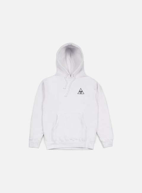 felpe obey huf triple triangle hoodie white