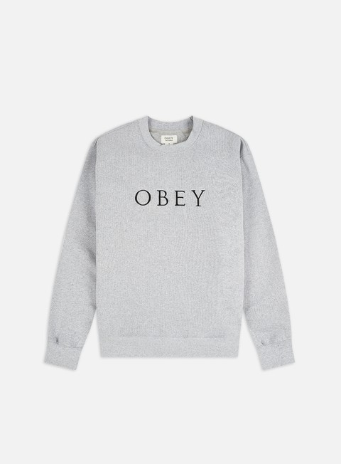 Crewneck Sweatshirts Obey Ideals Sustainable Logo Crewneck