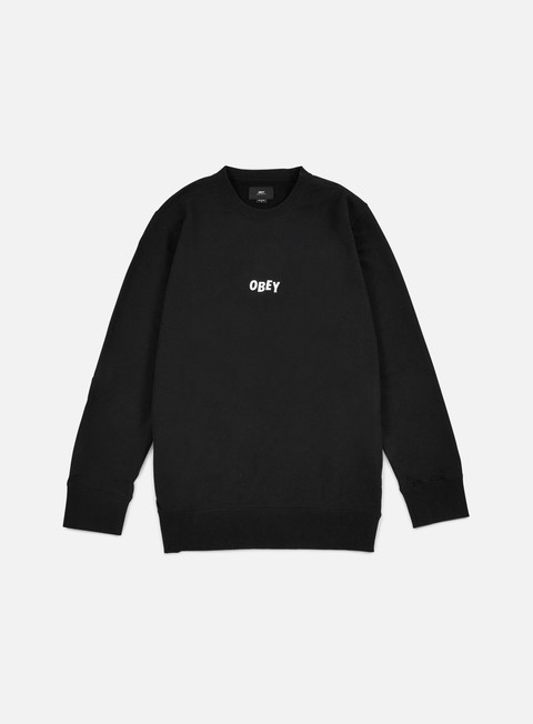 felpe obey jumble bars crewneck black