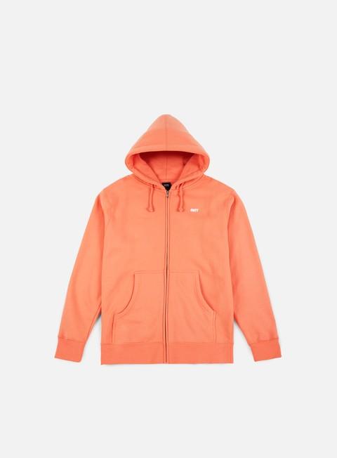 felpe obey jumble lo fi zip hoodie coral