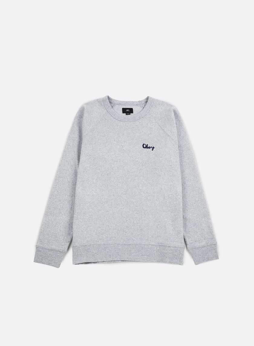 Obey - Lofty Chain Stitch Crewneck, Athletic Heather Grey