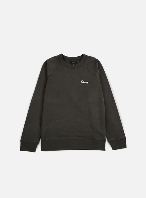felpe obey lofty chain stitch crewneck pirate black