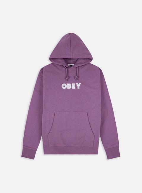 Hooded Sweatshirts Obey Logo Speciality Fleece Hoodie