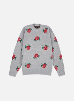Obey - Montrose Sweater, Heather Grey/Multi