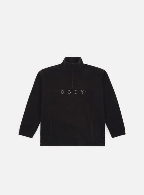 Sweaters and Fleeces Obey Mountain Mock Zip
