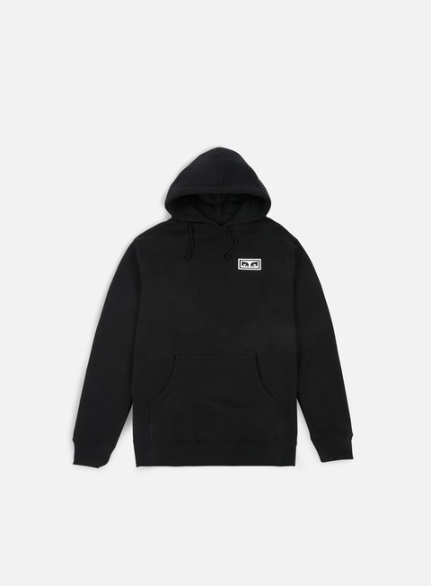 felpe obey no one graphic hoodie black
