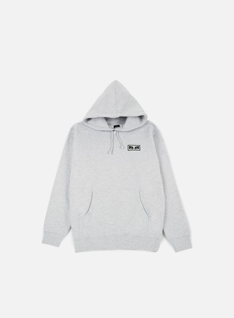 felpe obey no one graphic hoodie heather grey