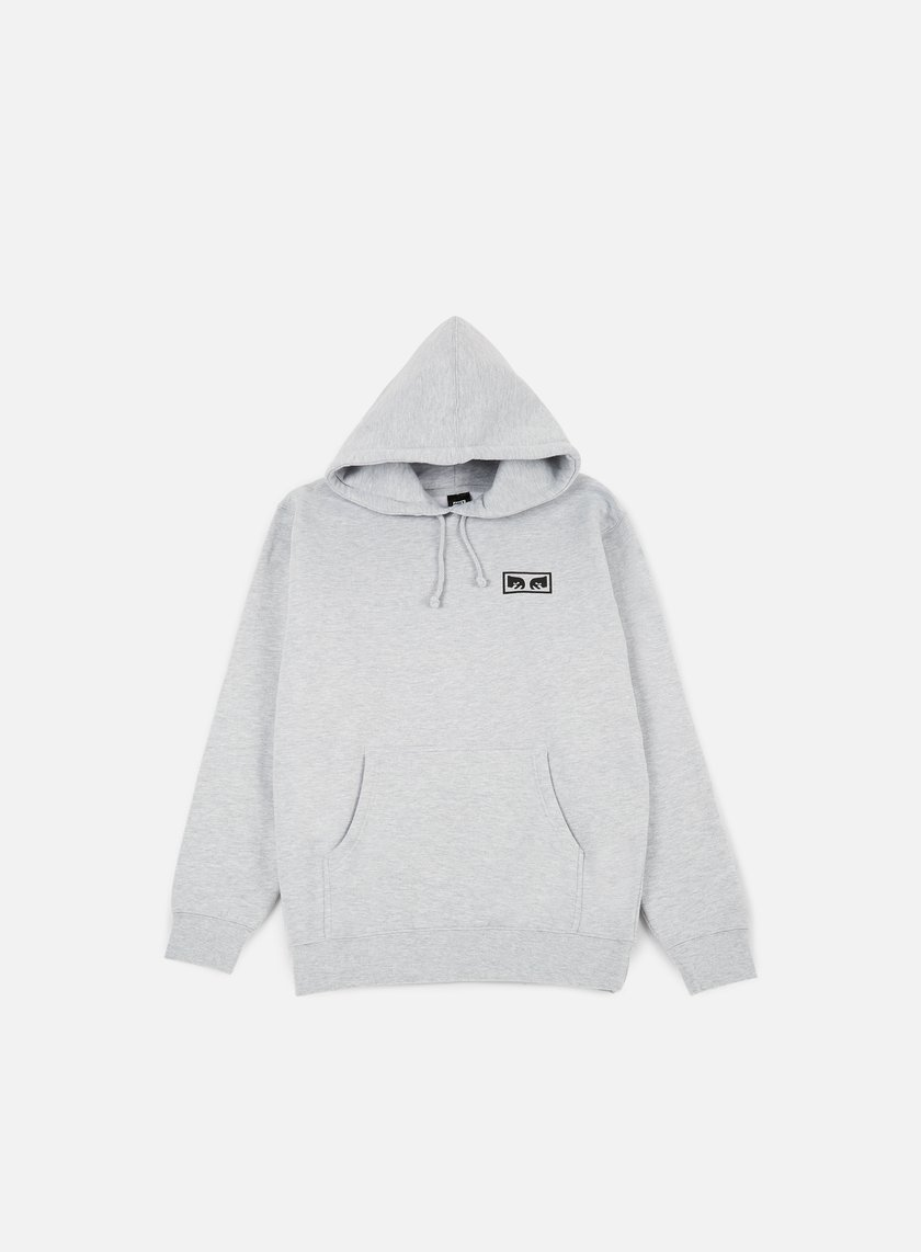 Obey - No One Graphic Hoodie, Heather Grey