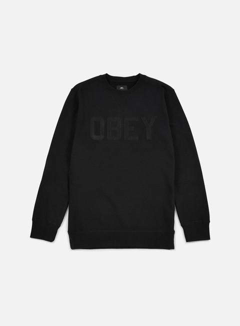 felpe obey north point crewneck black
