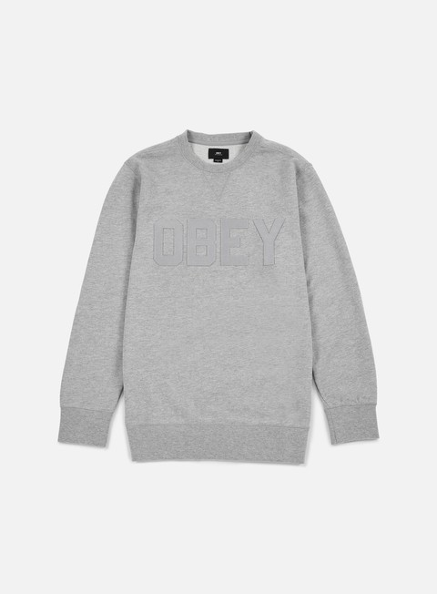 felpe obey north point crewneck heather grey