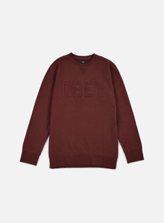 Obey - North Point Crewneck, Ox Blood 1