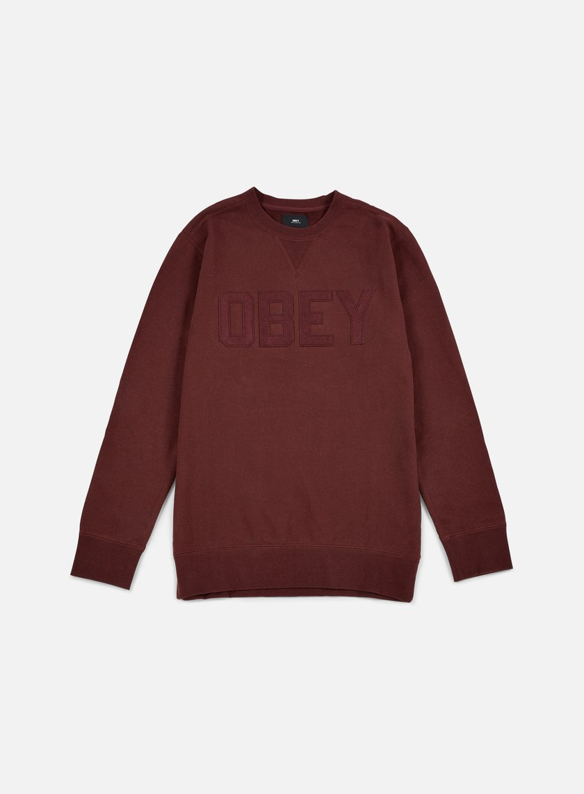 Obey - North Point Crewneck, Ox Blood
