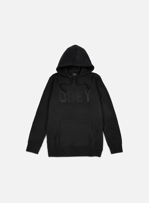 felpe obey north point hoodie black