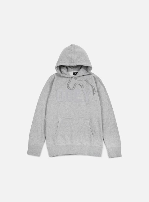 felpe obey north point hoodie heather grey