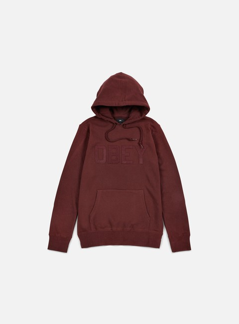 felpe obey north point hoodie ox blood
