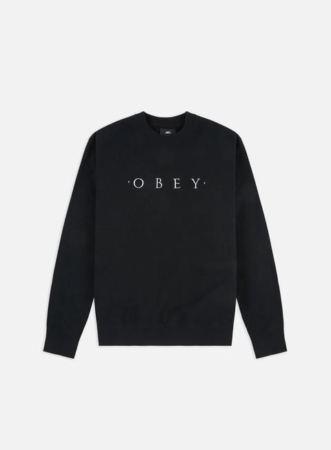 felpe obey nouvelle crewneck black