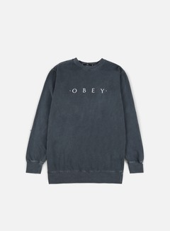Obey - Novel Obey Pigment Crewneck, Dusty Black 1