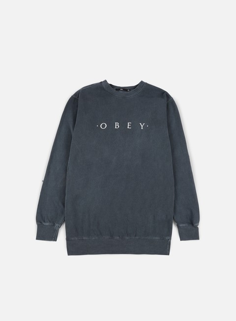 felpe obey novel obey pigment crewneck dusty black