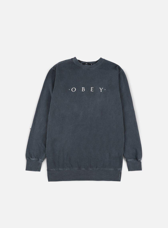 Obey - Novel Obey Pigment Crewneck, Dusty Black