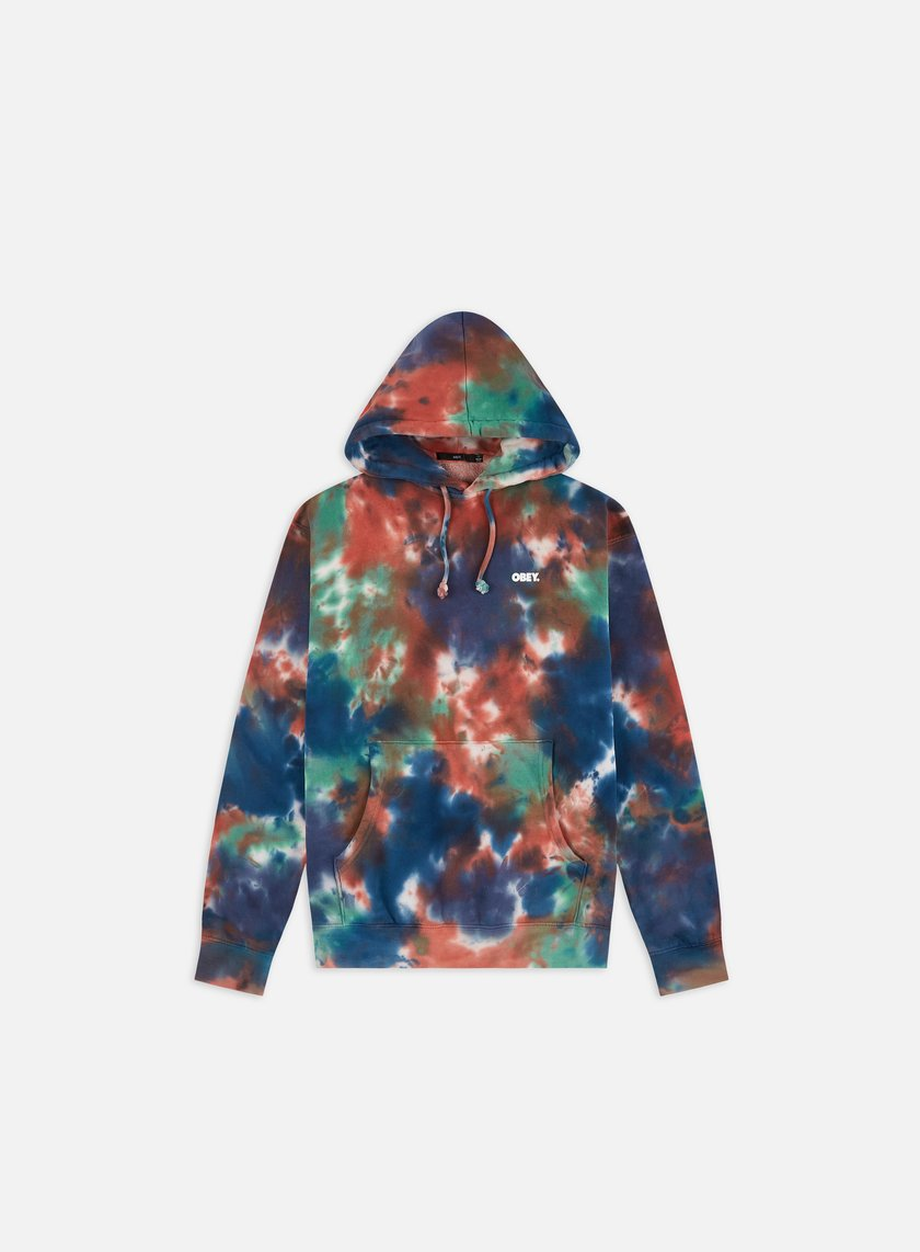 Obey Obey Bold Tie Dye Pullover Hoodie