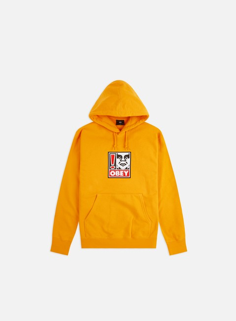 Outlet e Saldi Felpe con Cappuccio Obey Obey Exclamation Point Hoodie