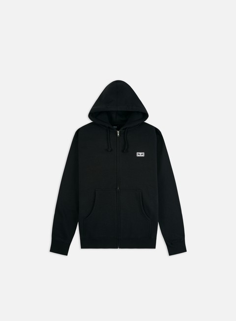Felpe con Cappuccio Obey Obey Eyes 3 Basic Zip Hoodie