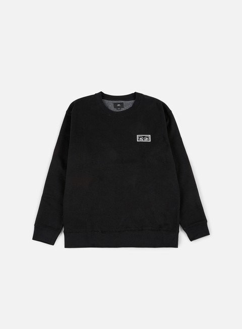 felpe obey obey eyes crewneck black
