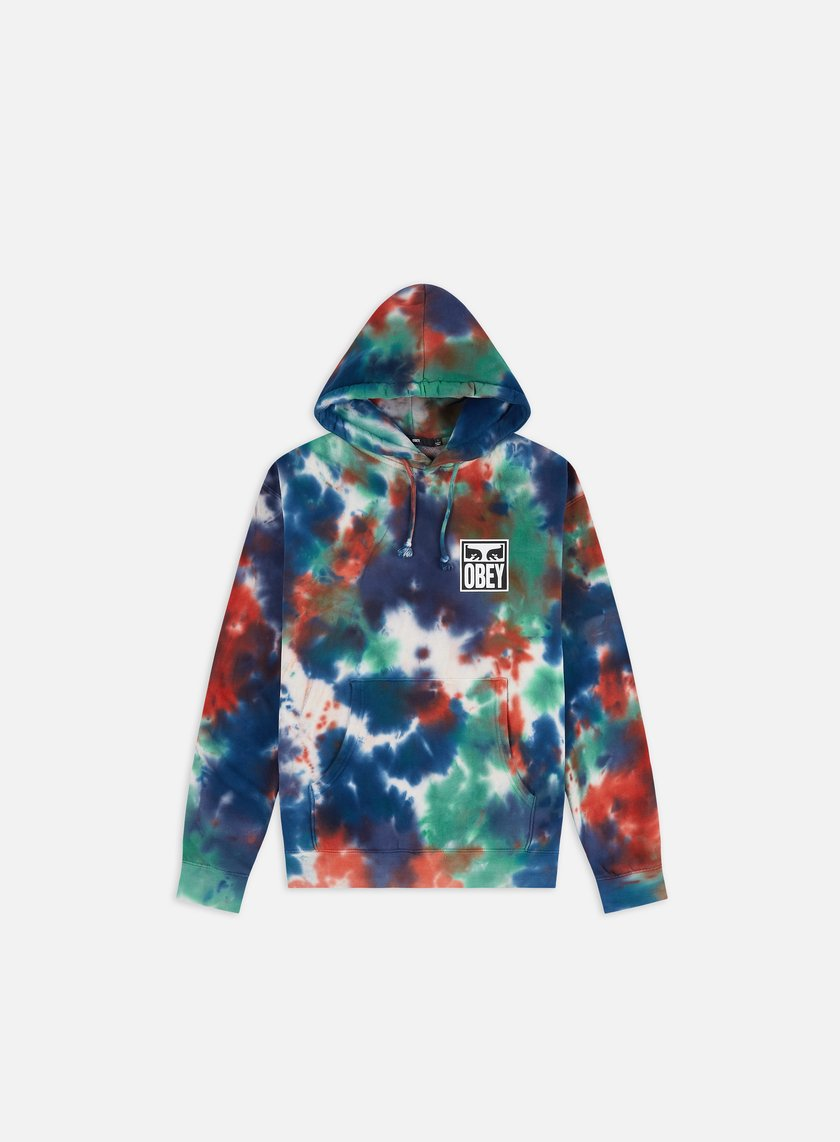 Obey Obey Eyes Icon Tie Dye Pullover Hoodie