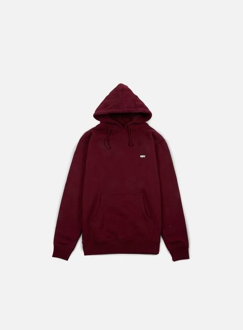 felpe obey obey lo fi hoodie maroon