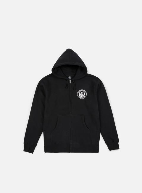 felpe obey obey misfits fiend club zip hoodie black