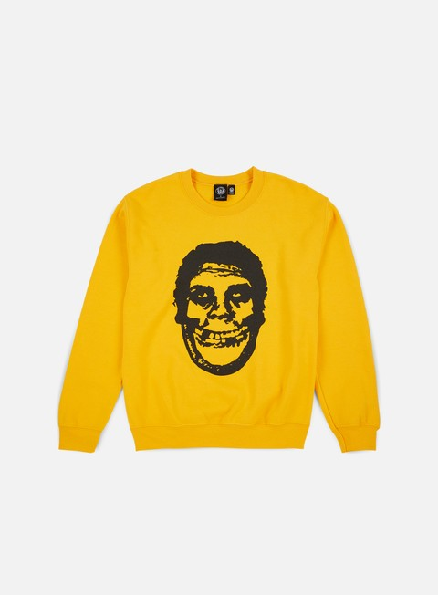felpe obey obey misfits teenagers from mars crewneck gold