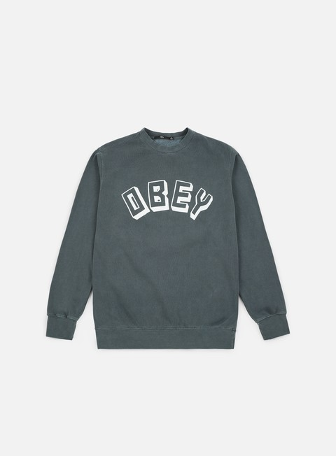felpe obey obey new world crewneck dusty black