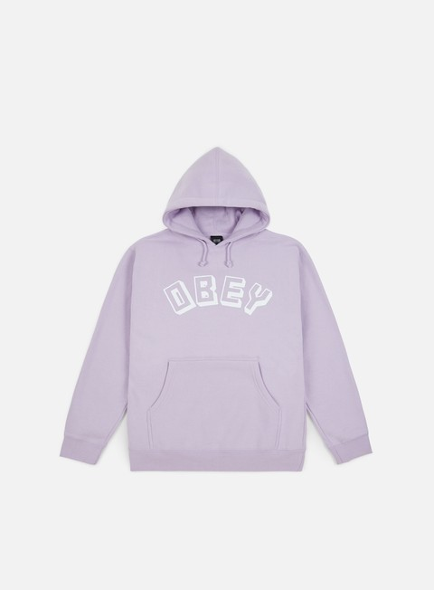 felpe obey obey new world hoodie lavender