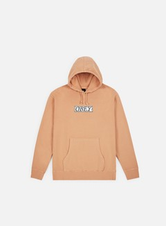 Obey - Obey Philosophy Box Pigment Hoodie, Dusty Coral