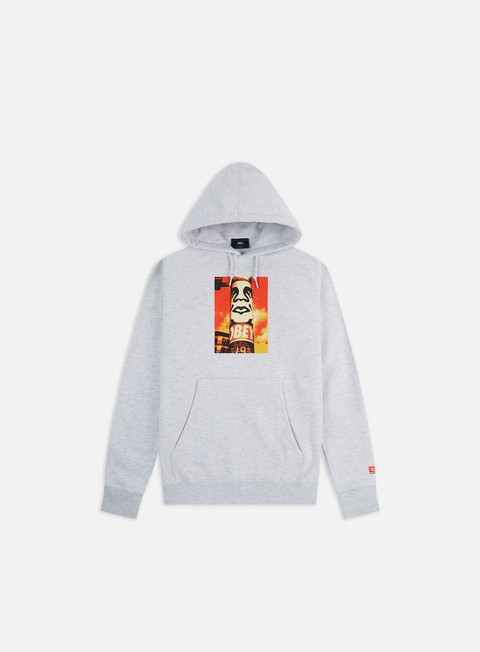 Hooded Sweatshirts Obey Obey Pole 30 Years Box Fit Premium