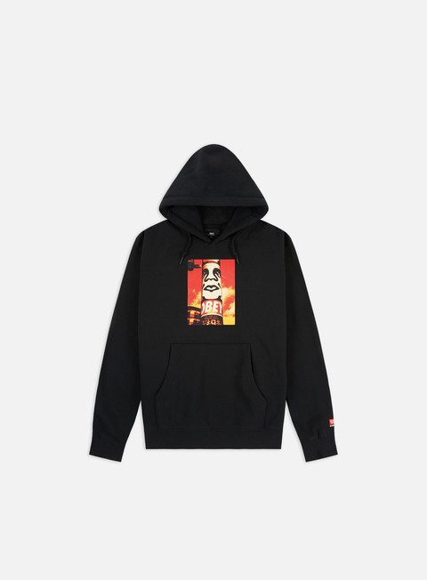 Hooded Sweatshirts Obey Obey Pole 30 Years Box Fit Premium Hoodie