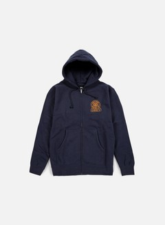 Obey - Obey Quality Dissent Zip Hoodie, Navy 1