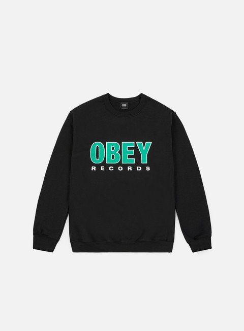 Outlet e Saldi Felpe Girocollo Obey Obey Records 2 Basic Box Crewneck