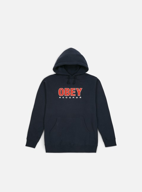 Sale Outlet Hooded Sweatshirts Obey Obey Records 2 Hoodie