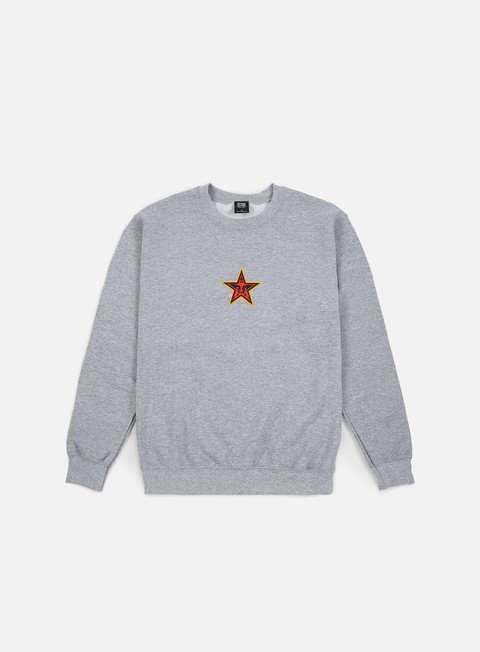 felpe obey obey star face crewneck heather grey