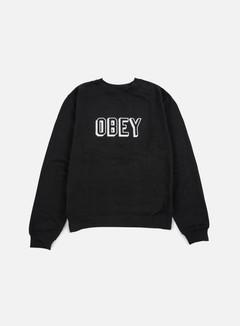 Obey - Obey Varsity Crewneck, Black 1