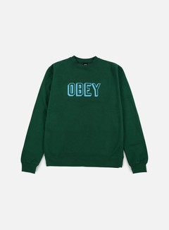 Obey - Obey Varsity Crewneck, Green 1