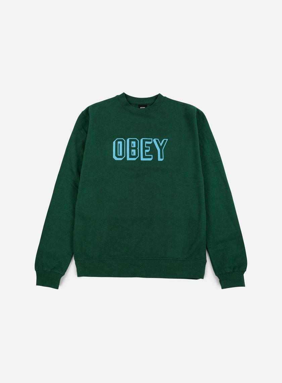 Obey - Obey Varsity Crewneck, Green
