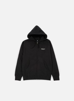 Obey - O.B.E.Y. Zip Hooded Fleece, Black 1