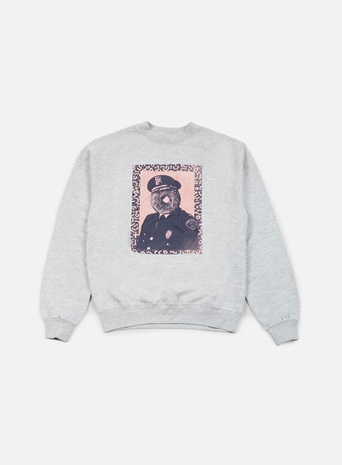 felpe obey officer sprinkles crewneck heather grey