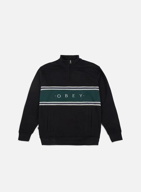 Zip hoodie Obey Palisade Mock Neck Zip
