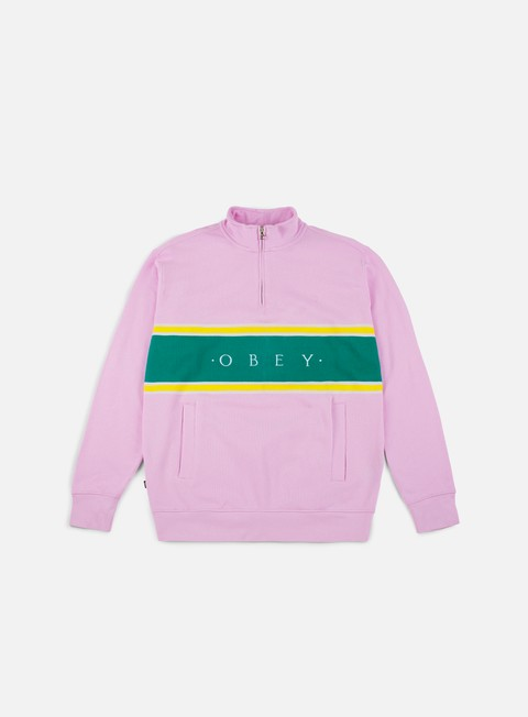 Zip Sweatshirts Obey Palisade Mock Neck Zip