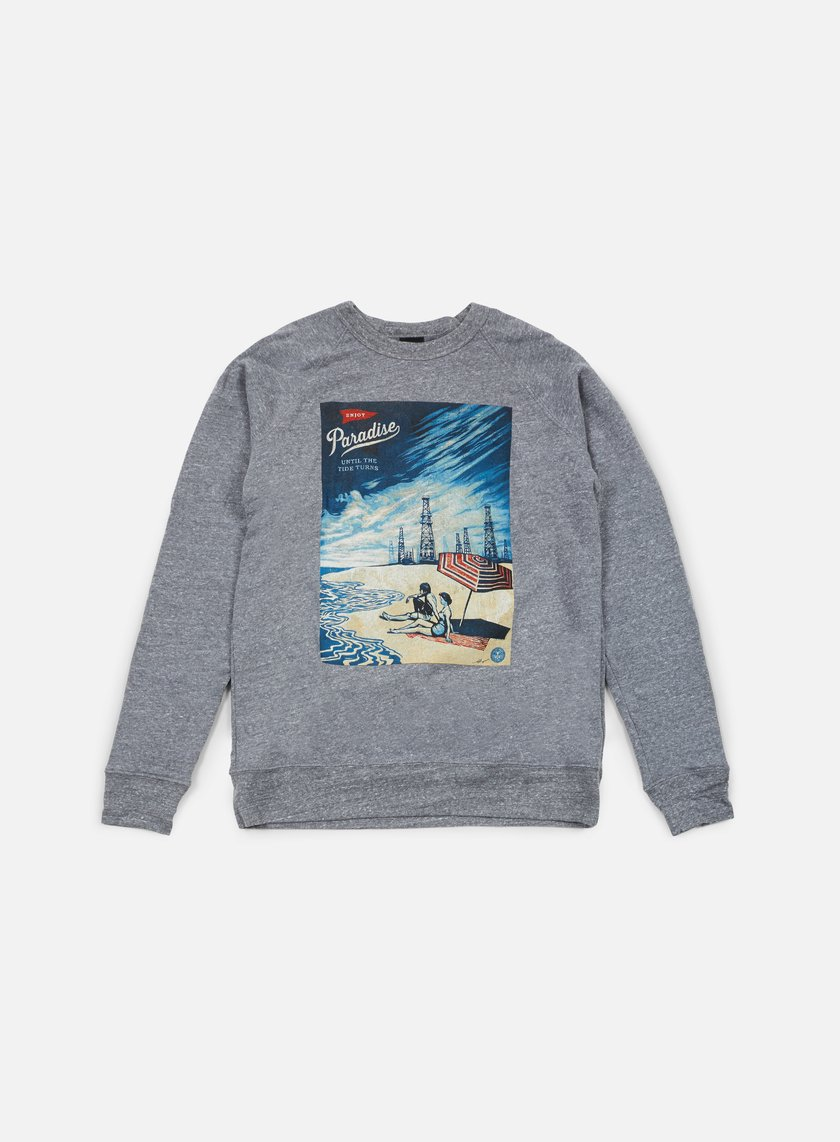 Obey - Paradise Turns Crewneck, Heather Grey
