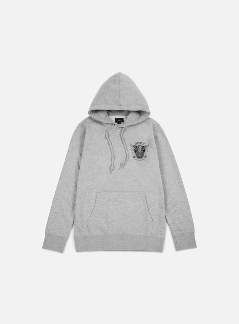 felpe obey peace and justice hoodie heather grey