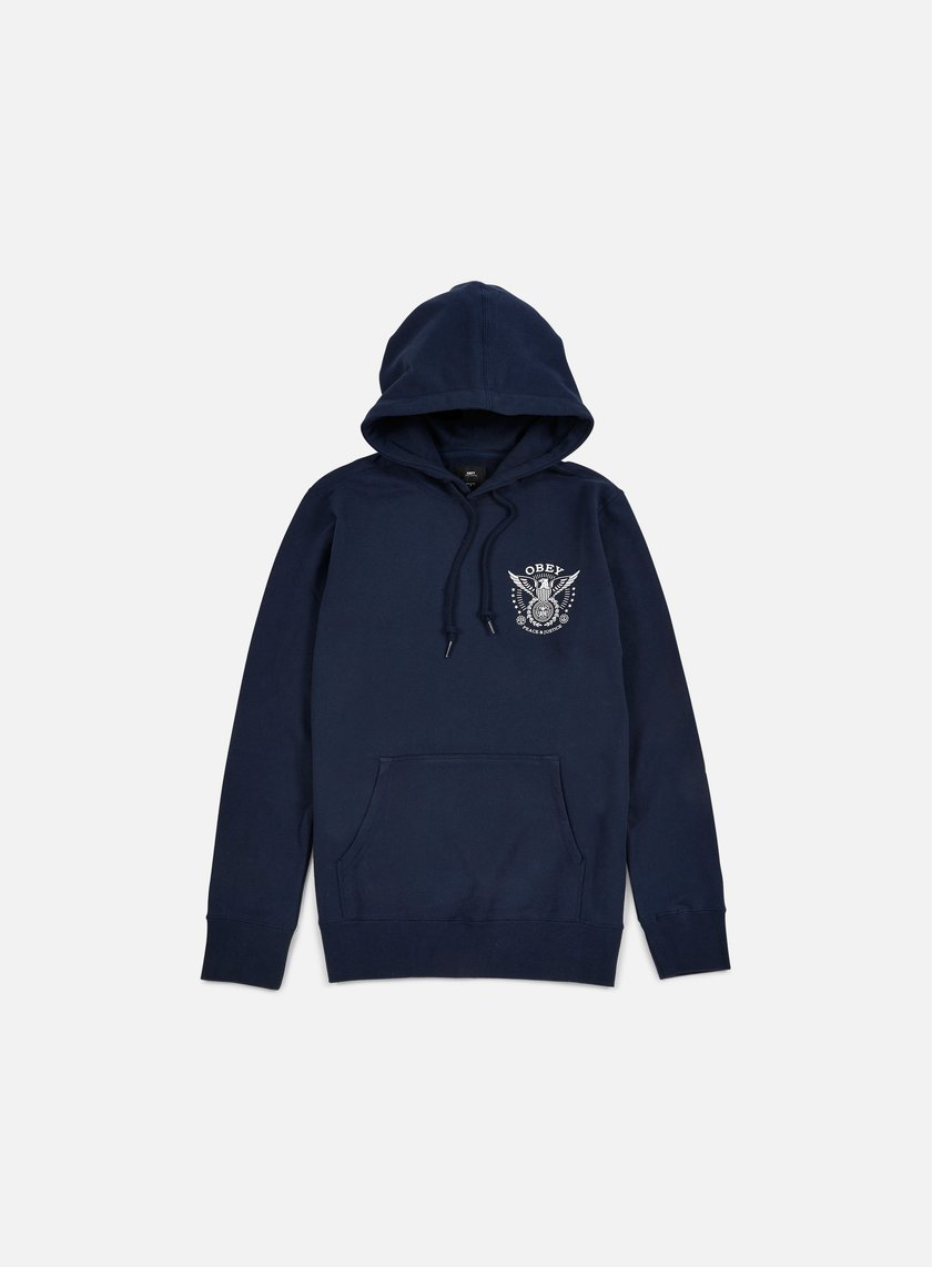 Obey - Peace And Justice Hoodie, Navy